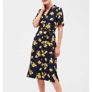 Banana Republic Lemon Shirt Dress